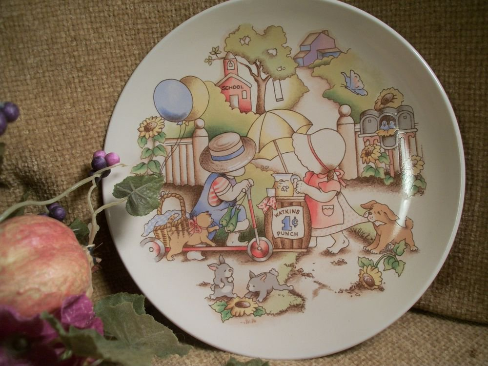 Country Kids Collectible Decorative Wall Plate Vintage 1991 Home Decor