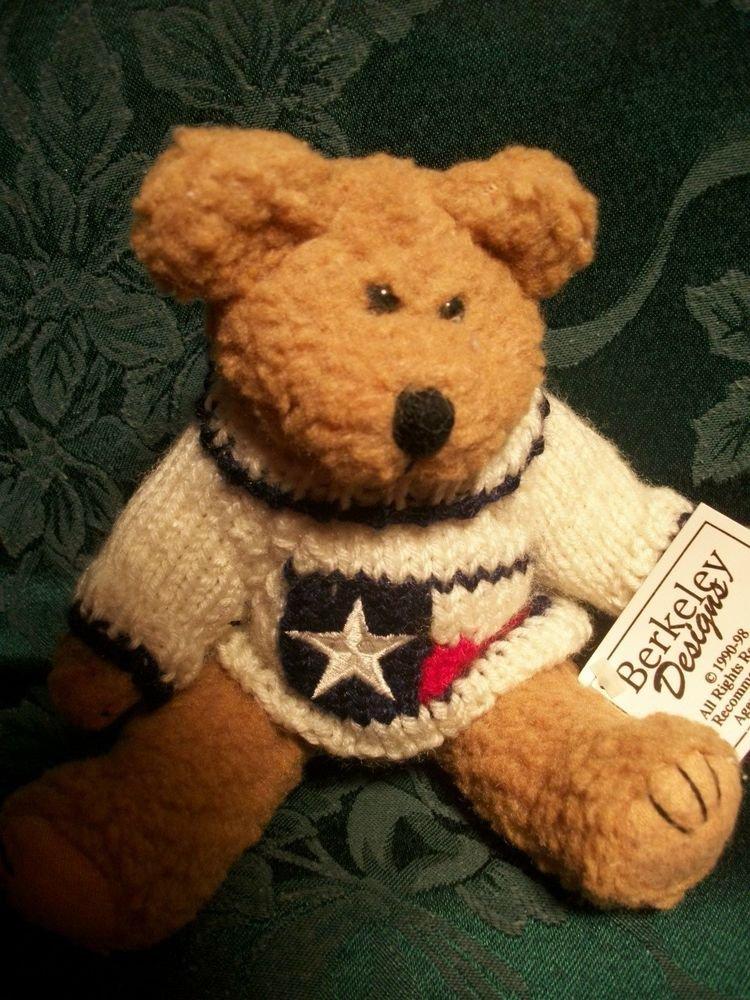 Stuffed Plush Bear Berkeley Designs Americana Bear Red White Blue Sweater
