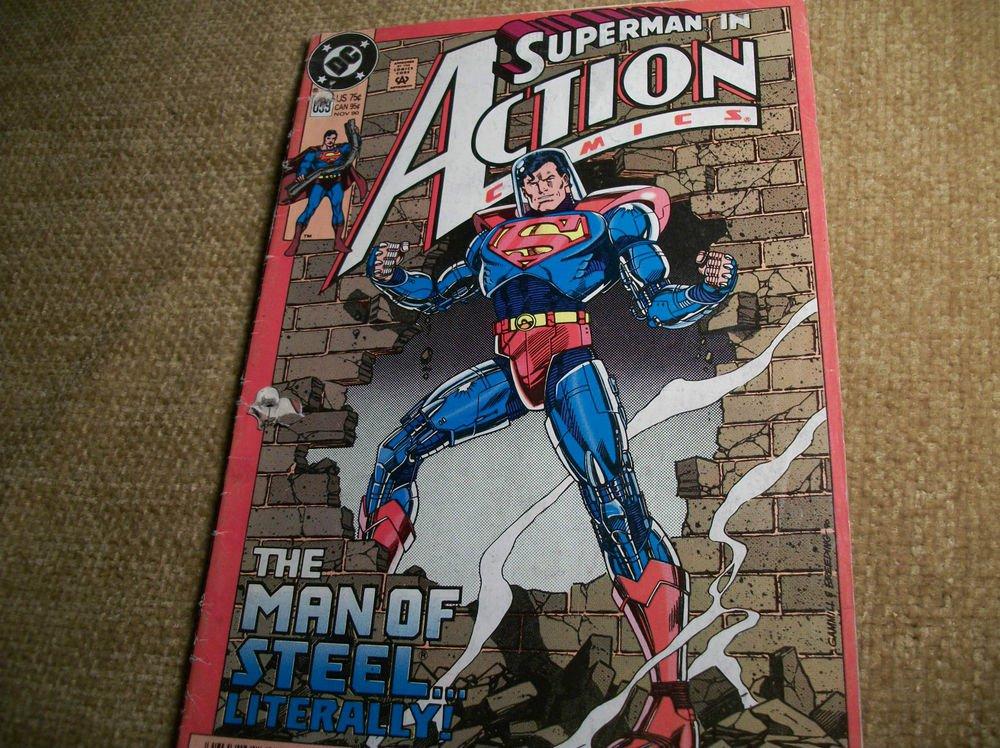 DC Superhero Comic Book SUPERMAN in Action Comics VTG Nov 1990  No 659