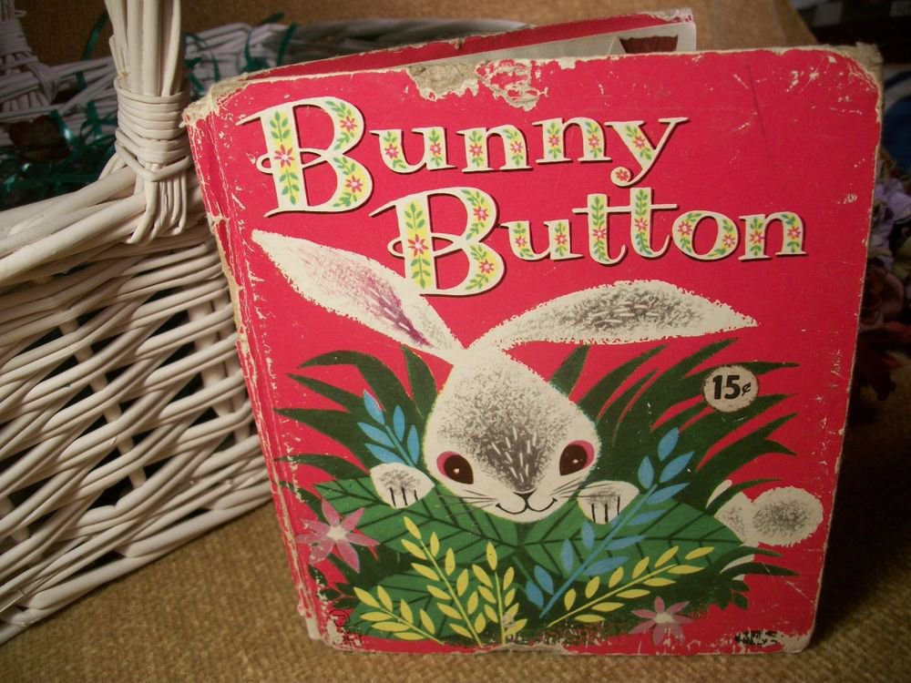 Children's Picture Book Animal Story Bunny Button Whitman Tell a Tale VTG 1953