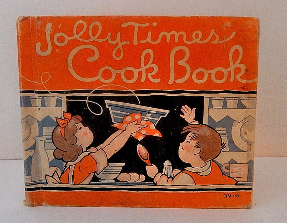 Jolly Times Cook Book for Children Antique 1934 Recipe Teaching Marjorie Osborn