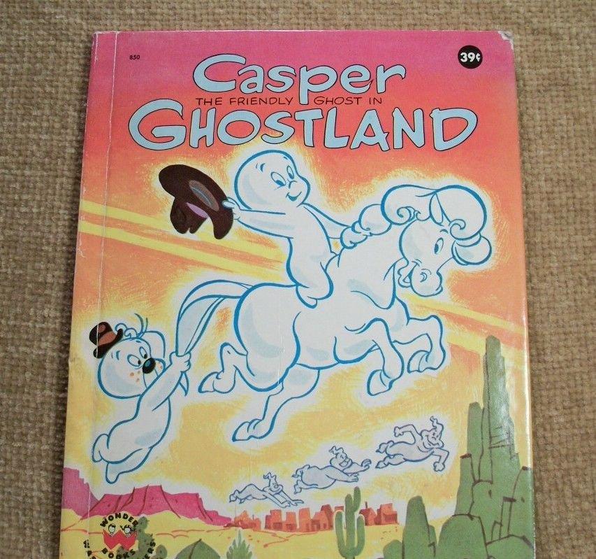 Casper the Friendly Ghost Children's Book VTG Picture Stort TV Cartoon Character