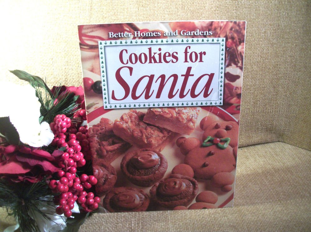 Cookies for Santa Christmas Cookbook Holiday Baking Booklet 1999 Better Homes