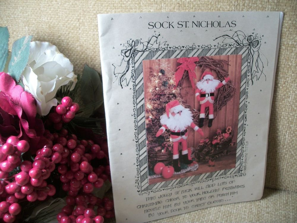 All Cooped Up Patterns Sock St Nicholas Soft Sculpture Santa Claus Craft Pattern