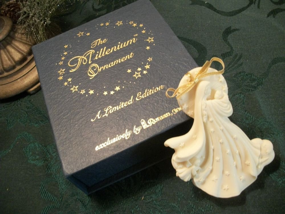 Angel Christmas Decoration Millenium Ornament Limited Edition by Roman Inc 1998