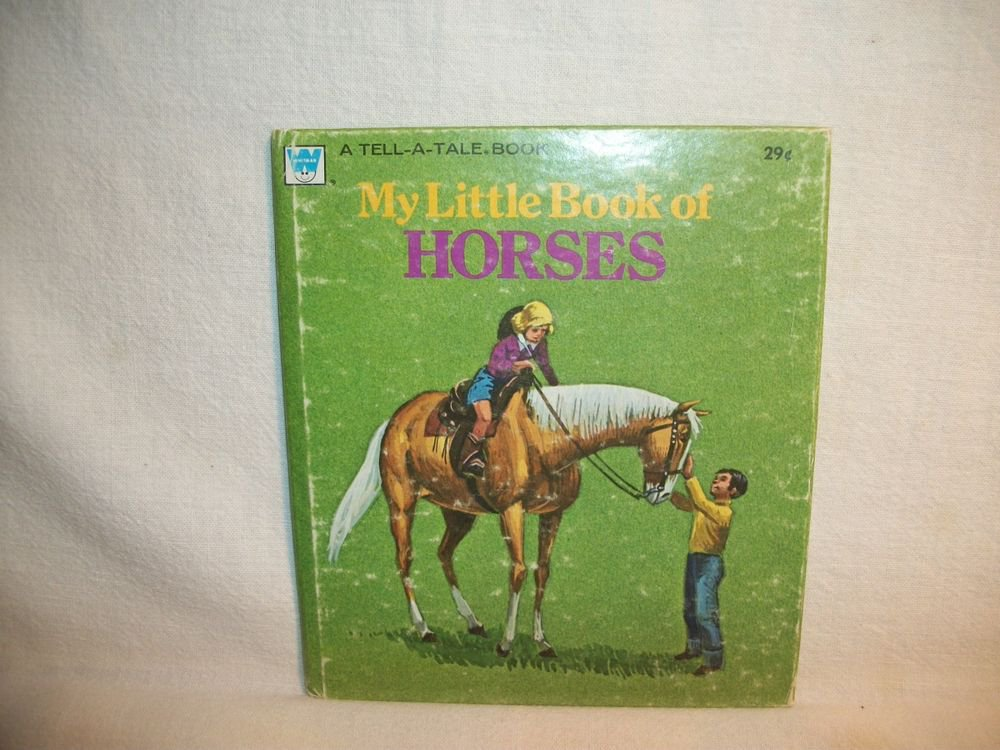 My Little Book of Horses Animal Story Book Children's VTG Tell a Tale 1974