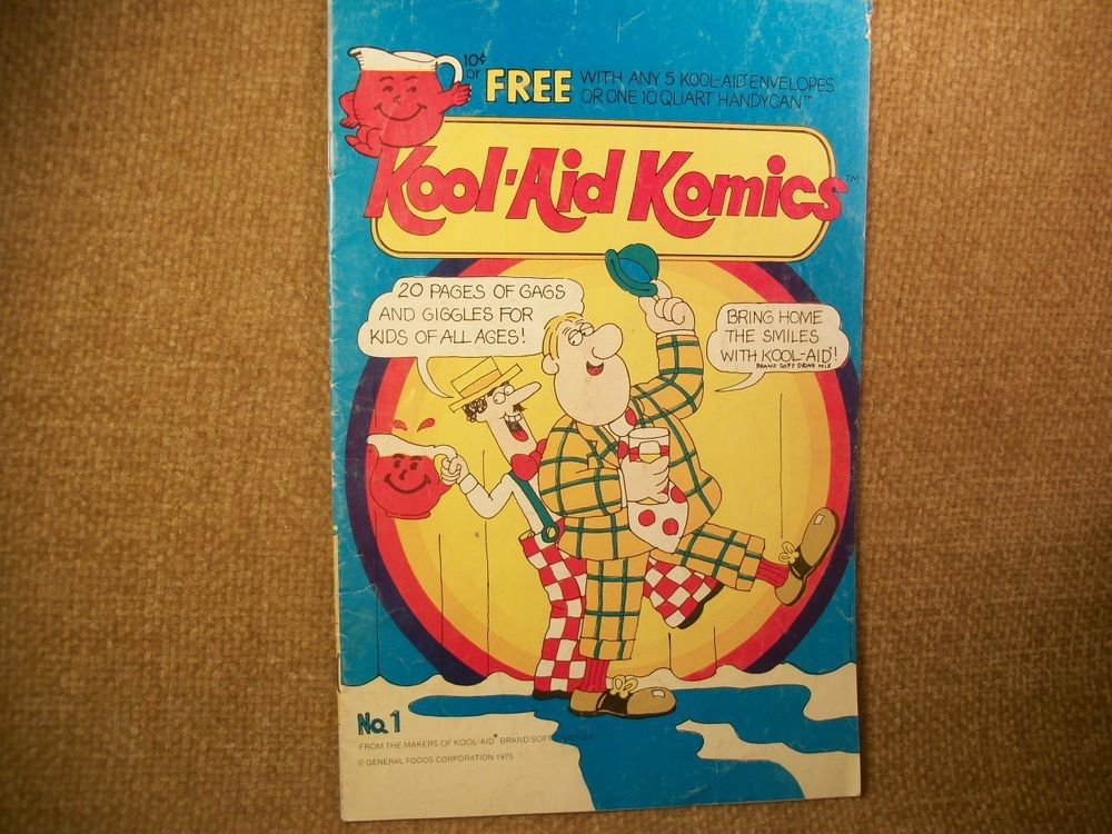 General Foods Kool Aid Komics Comic Activity Book Advertising VTG Collectible