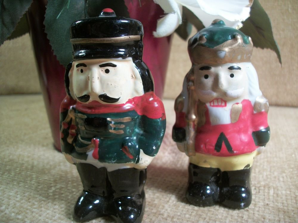 Ceramic Nutcracker Soldier Figurines Christmas Decorations
