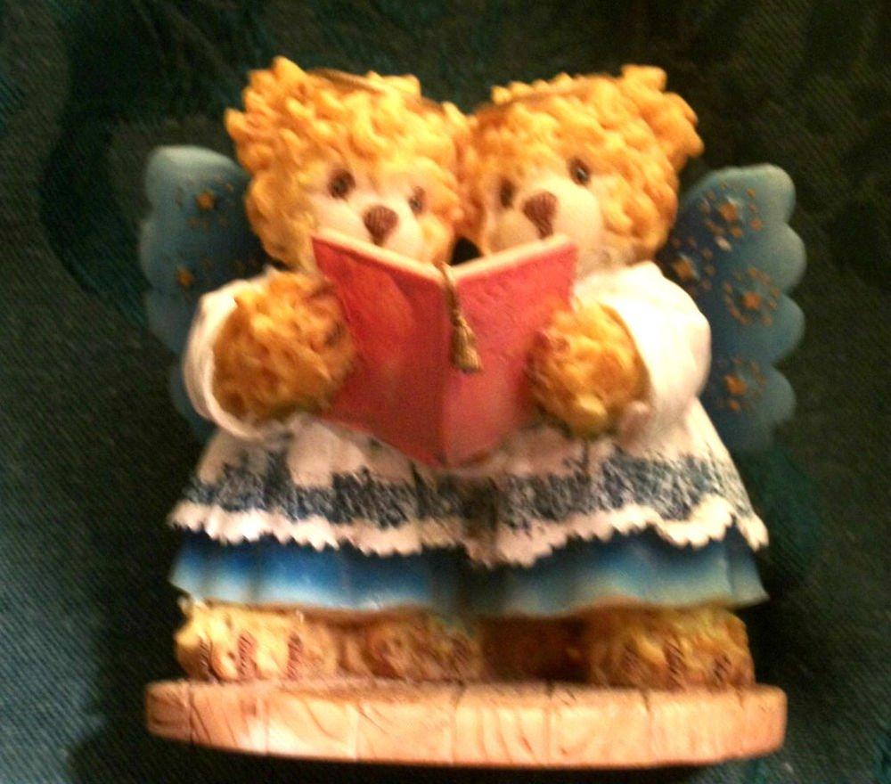 Choir Angel Bears Figurine House of Lloyd Bearsley Family Christmas Decoration