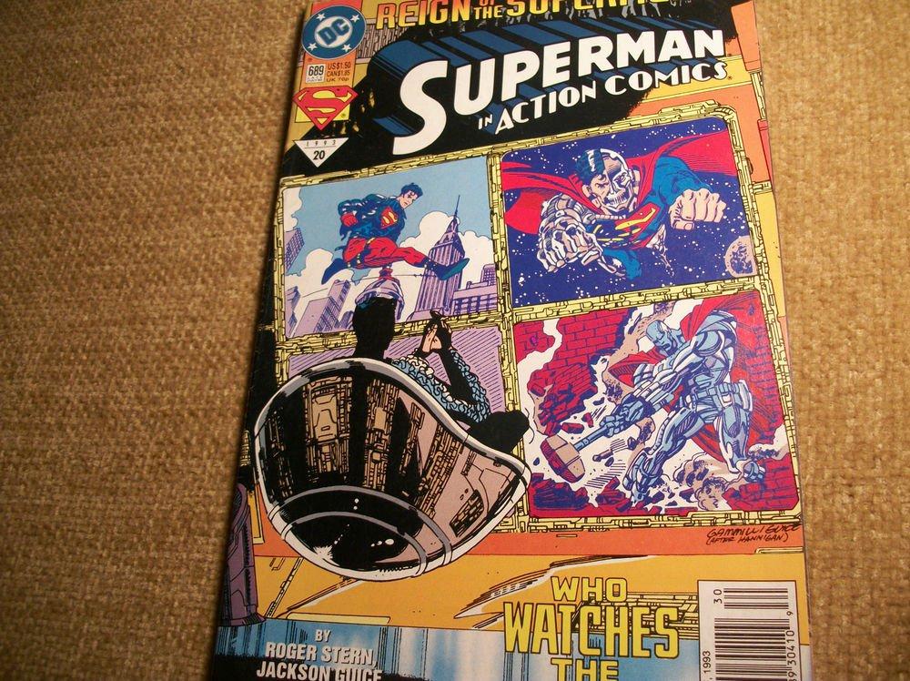 DC Superhero Comic Book SUPERMAN in Action Comics VTG July 1993 No 689