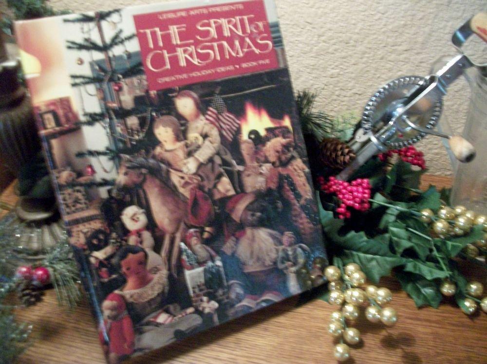 Leisure Arts The Spirit of Christmas #5 Cookbook VTG 1991 Holiday Crafts Food