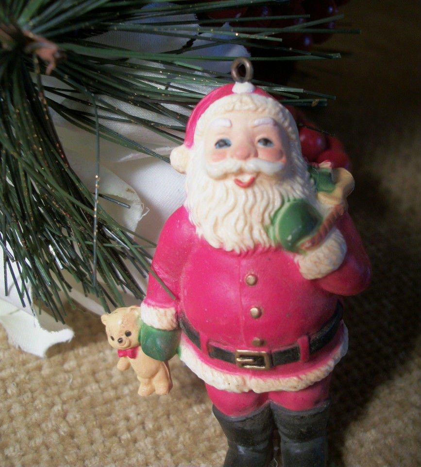 ENESCO Santa Claus Christmas Tree Ornament Free Standing Miniature VTG  Figurine