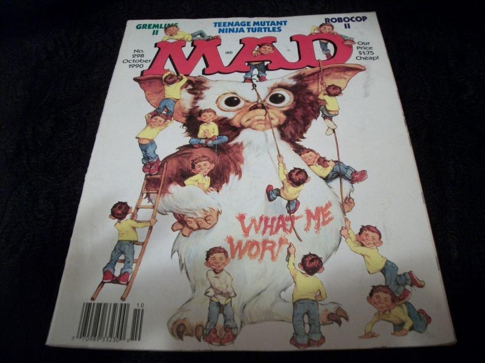 MAD Magazine VTGOctober 1990, Edition 298 Alfred E Neuman Spoof Satire Comic