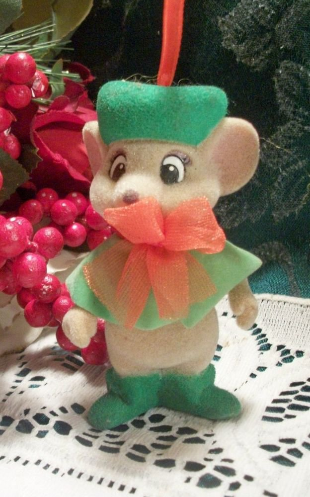 Disney Mouse Miss Blanca Rescuers Ornament McDonalds Toy Figurine VTG 1990