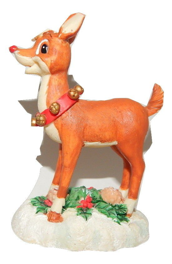 Rudolph the Red Nosed Reindeer Figurine Christmas Collectible GT Merchandising