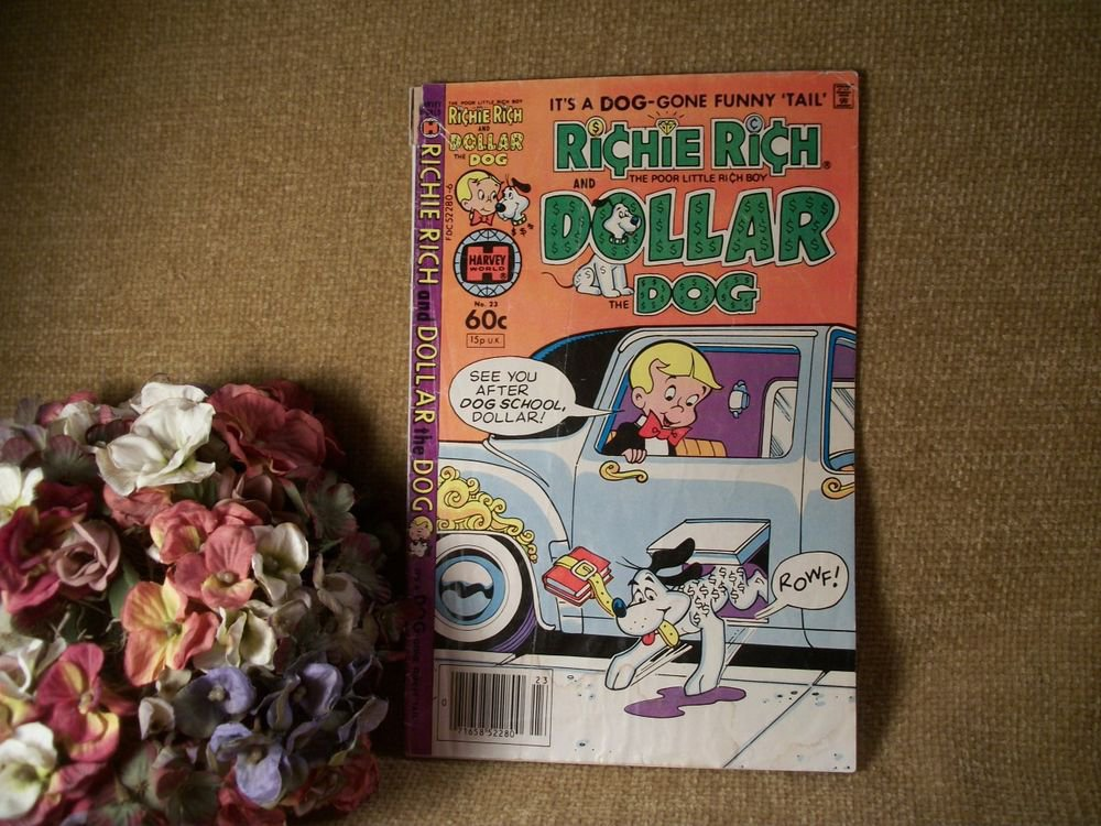 Harvey World VTG Comic Book Richie Rich Poor Little Rich Boy Dollar the Dog