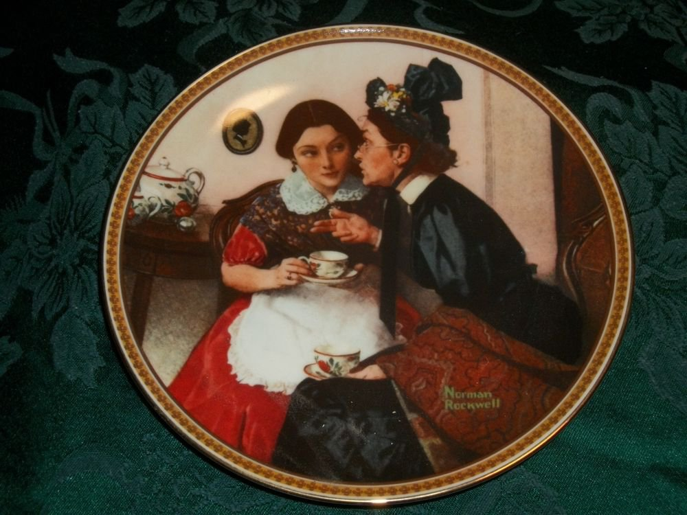 Norman Rockwell Gossiping in the Alcove Knowles Fine China 1983 Decorative Plate