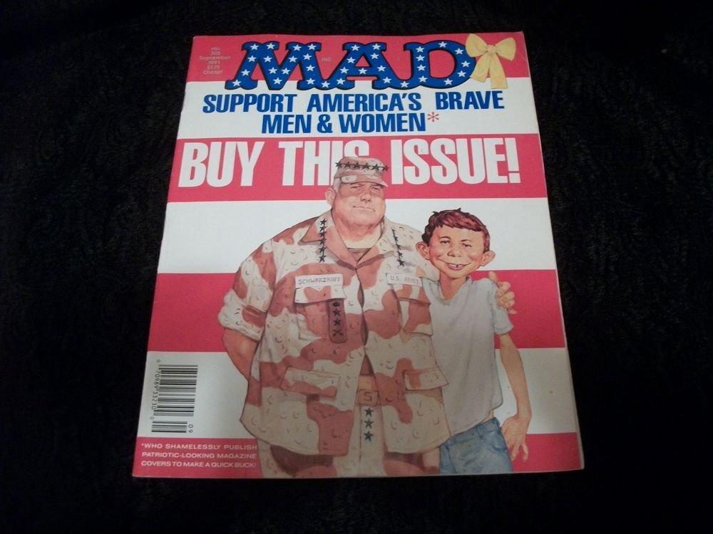 MAD Magazine September 1991Edition 305 VTG Alfred E Neuman Spoof  Satire Comic