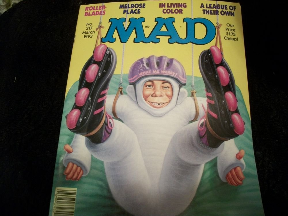 MAD Magazine VTG March 1993  Edition 317 Alfred E Neuman Spoof, Satire, Comic