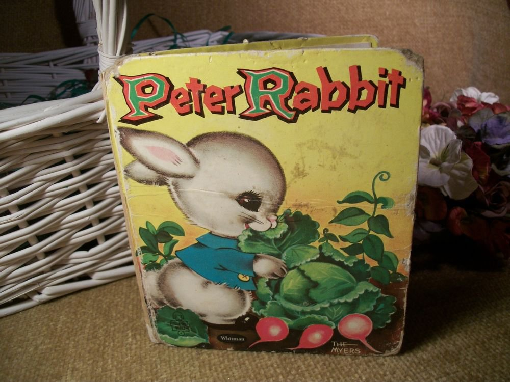 Peter Rabbit Childrens Book Animal Bunny Picture Story VTG TellATale Collectible