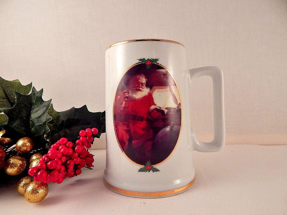 Coca Cola Christmas Mug Haddon Sundholm Coke Santa Claus Collectible Coffee Cup
