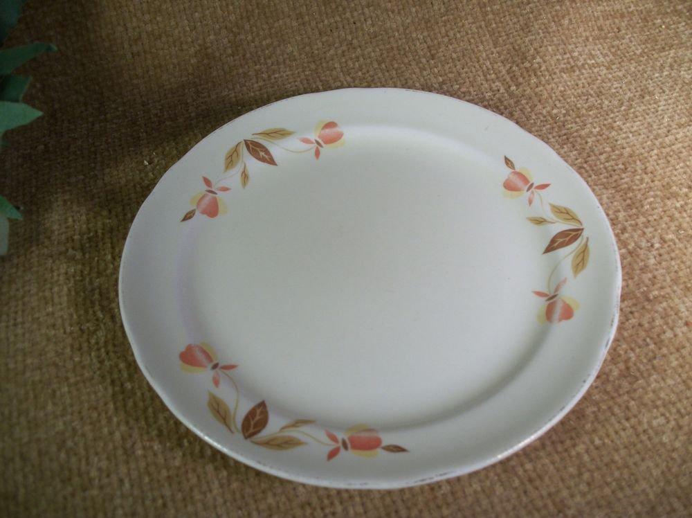 Plate Superior Hall Autumn Leaf Bread or Dessert Tableware VTG Jewel Tea China