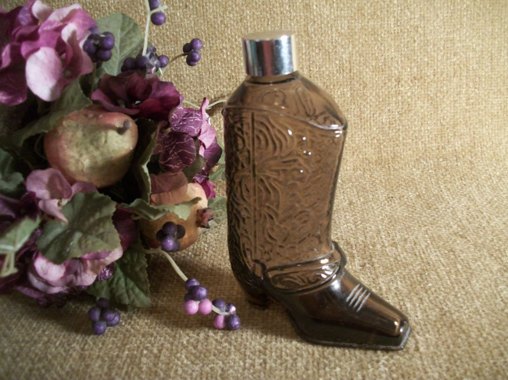 Cowboy Boot Western Footware Bottle VTG Avon Collectible After Shave Decanter