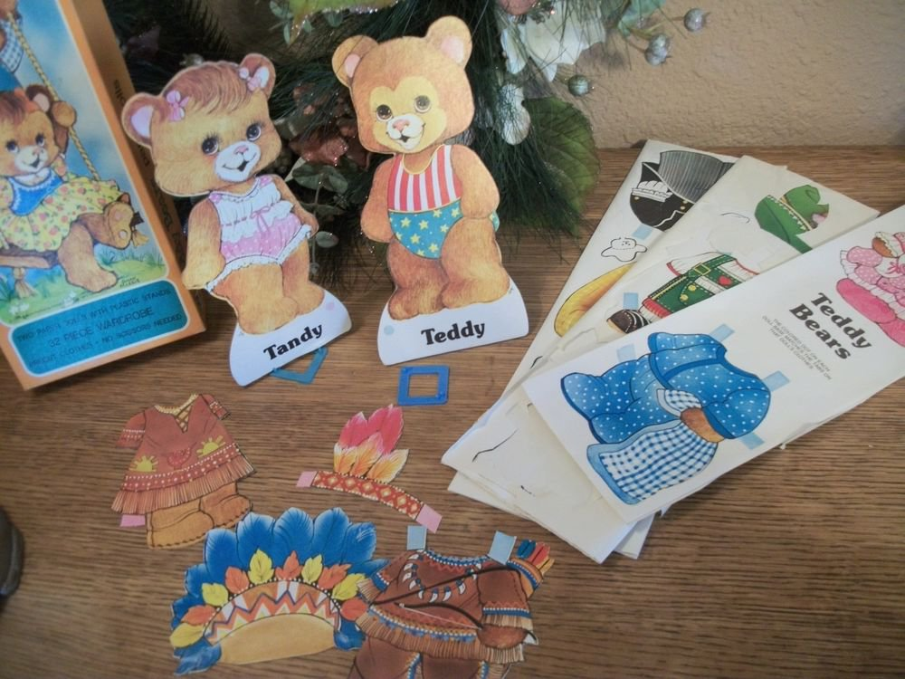 Paper Dolls Teddy Bears Boy Girl Toy Keepsake VTG Collectible 1979 Susan Morris