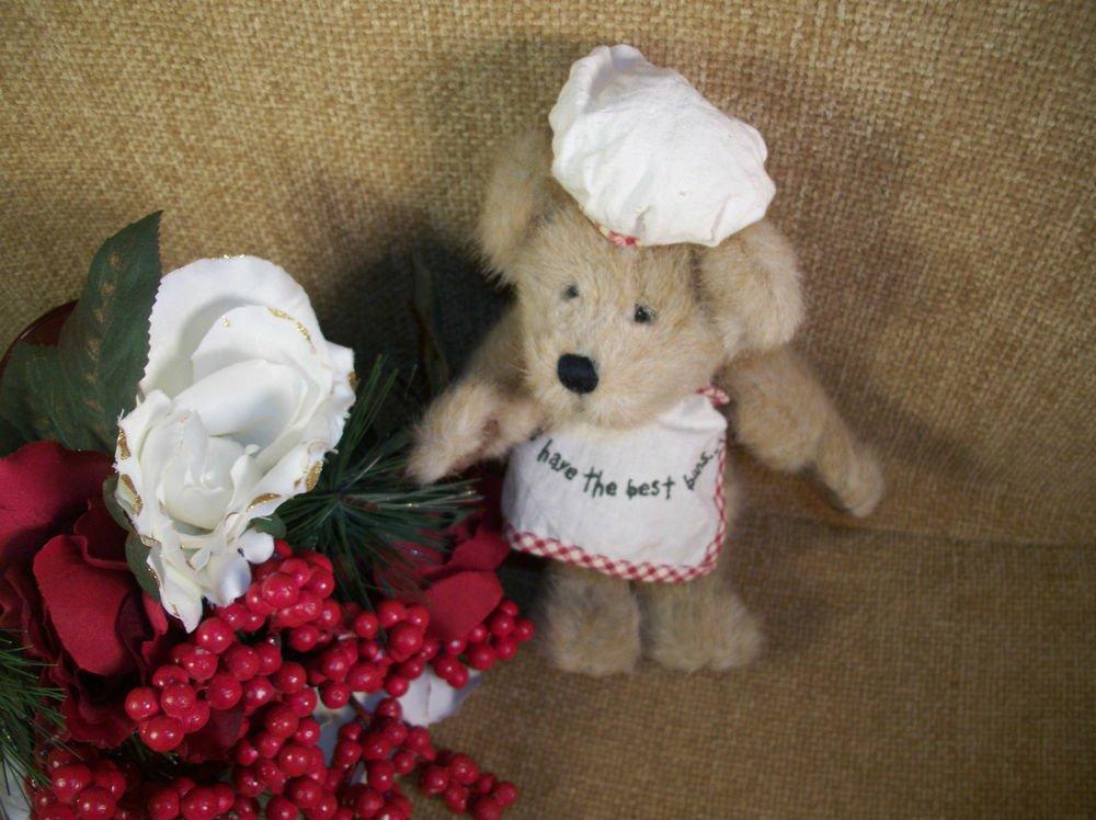 BOYDS Cookie Bearchild Bear Plush Stuffed Animal Apron Baker Bear Retired 903009
