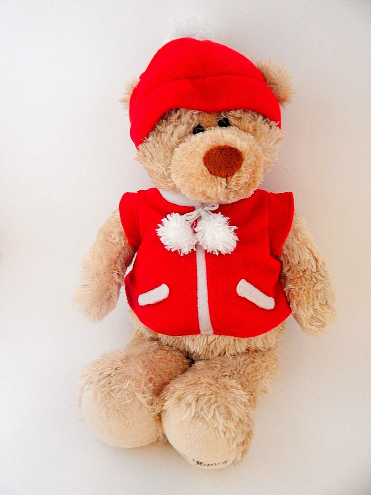 "Gund Bear 46631 Christmas Decoration 19"" Teddy E Caring Office Depot Promo Toy"