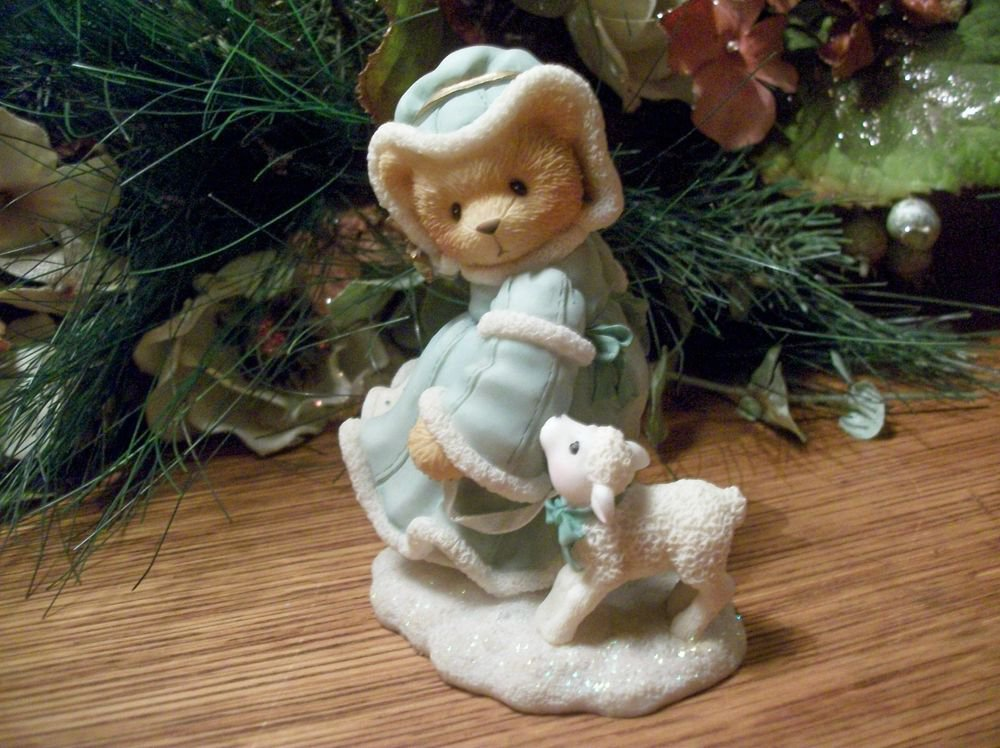 Cherished Teddies Joy to the World Christmas Bear Figurine Priscilla Hillman