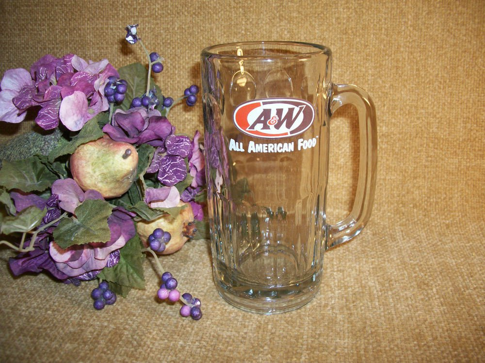 A&W Root Beer Mug Frosty Glass Barware All American Food Restaurant Advertising