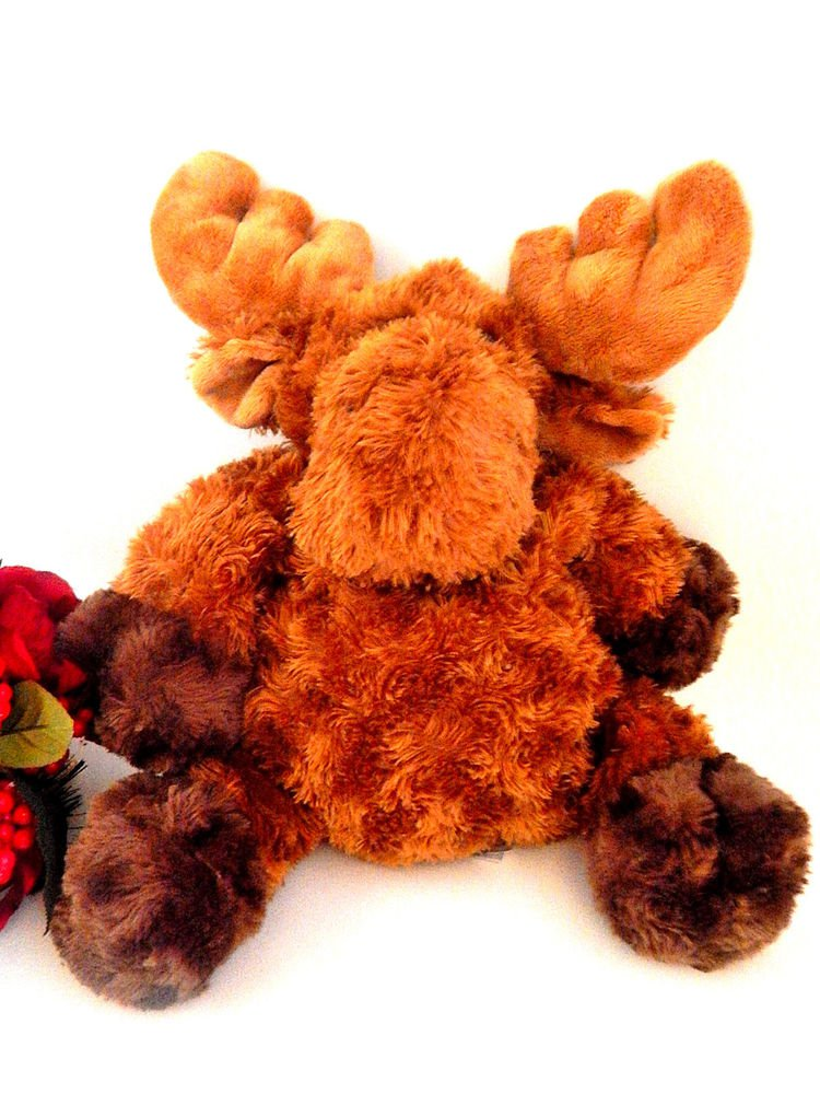 "Milty Moose 13"" Mary Meyer Collectible 6083 Flip Flop Brown Stuffed Plush Animal"