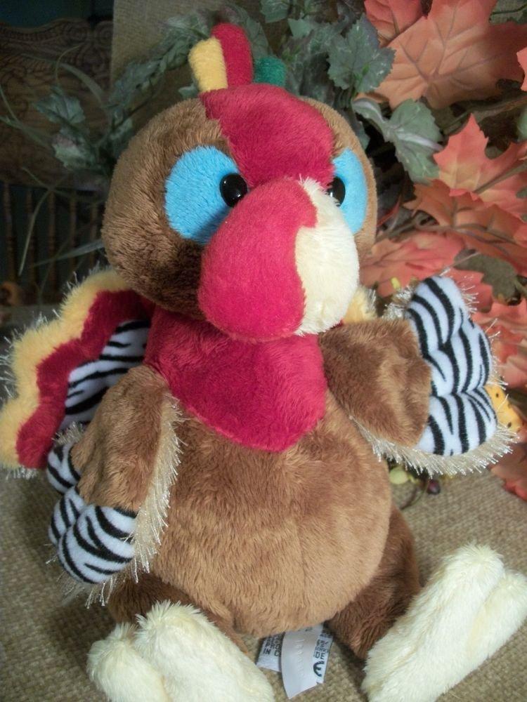 GANZ Plush Stuffed Animal, Colorful Turkey, WebkinzThanksgiving Decor, No Code