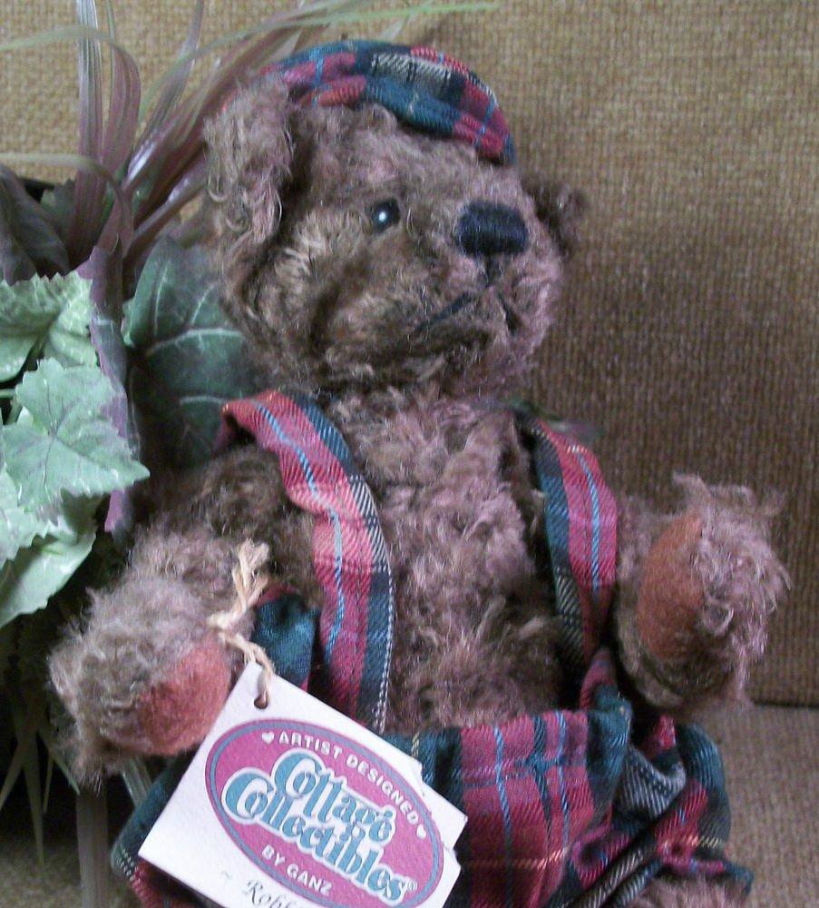 GANZ Bear ROBBIE Brown Plush Stuffed Animal BEAR CC602 Retired 1996