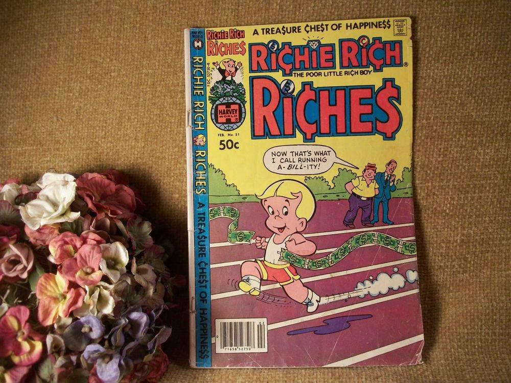 Harvey World Comic Book Richie Rich Poor Little Rich Boy VTG Collectible