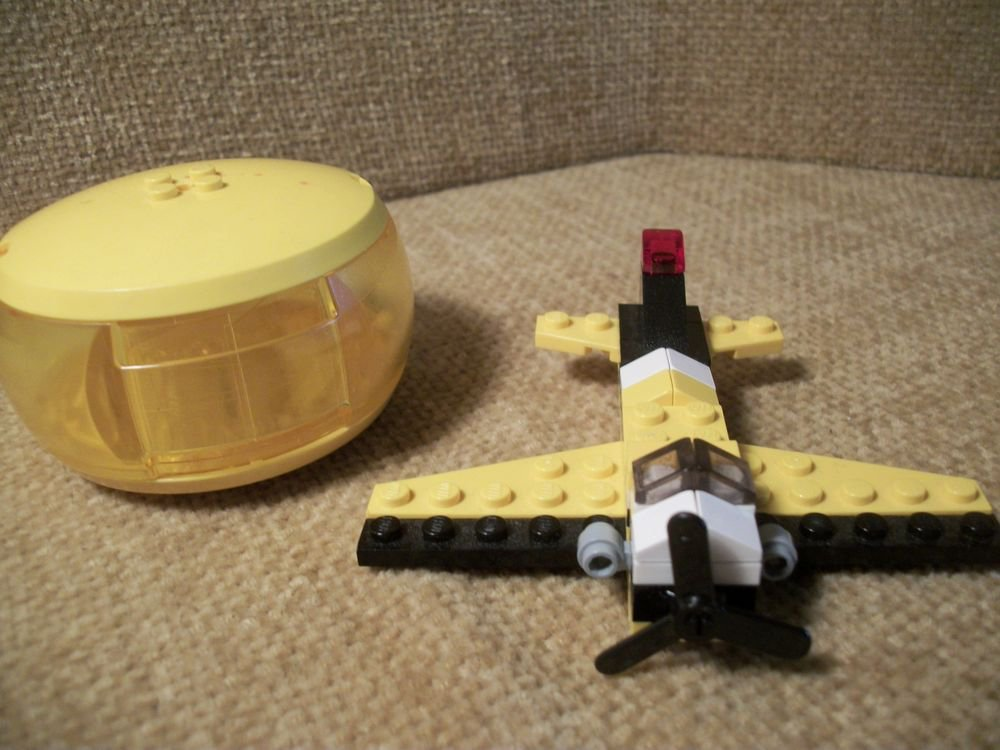 Real LEGO Yellow Airplane Creator Item 7808 with Pod Toy Boys
