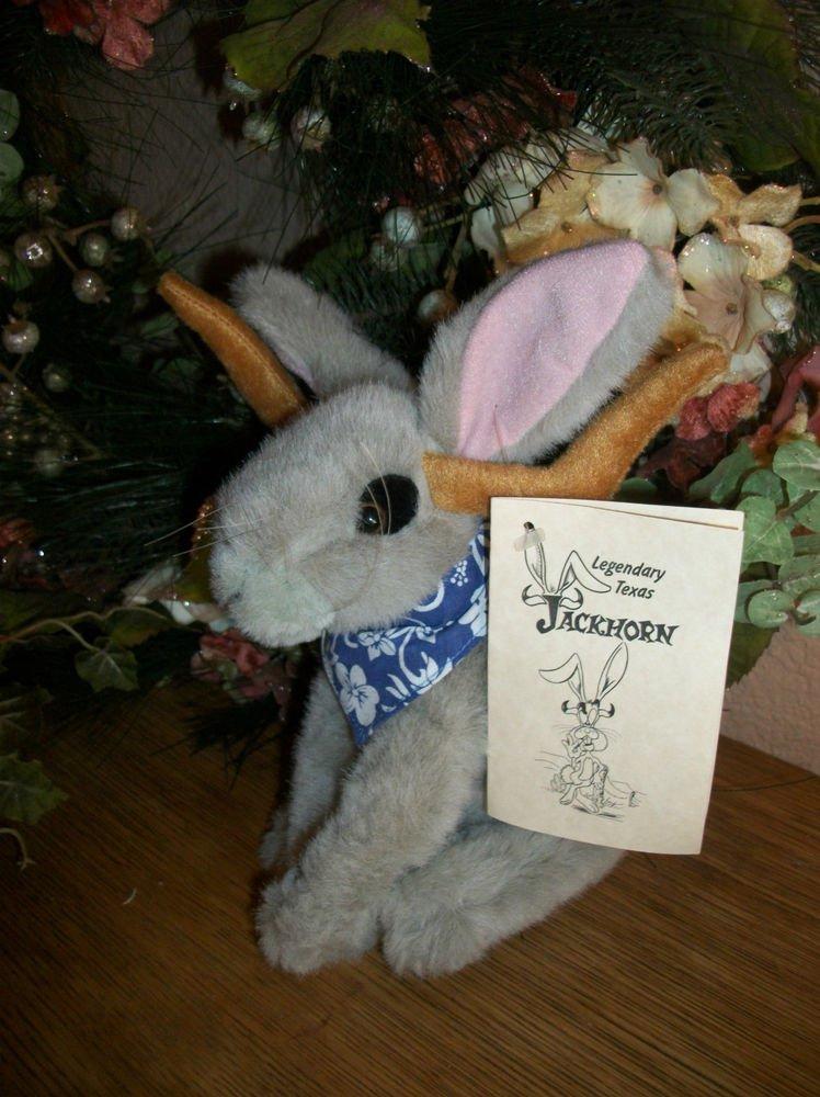 Legendary Texas Jackhorn Rabbit Bull Horns Stuffed Plush Animal Novelty Gift