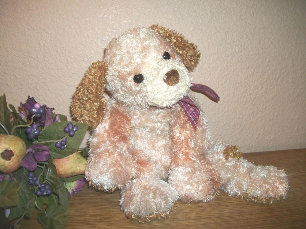 "TY Classic Dog Stuffed Plush Animal 13"" Beanie Buddy Dustin RARE Retired 2004"