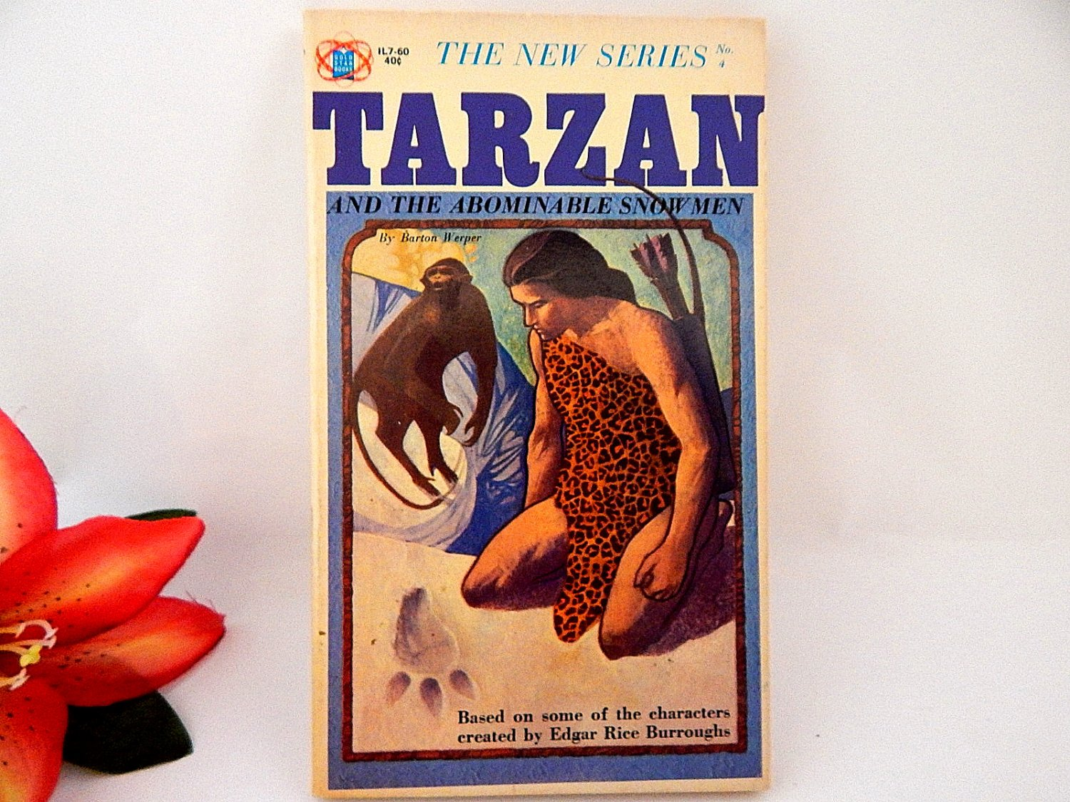 Tarzan and the Abominable Snowman Vintage 1965 Book Rare Unauthorized Gold Star Series Book 4