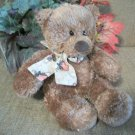 Gund Teddy Bear Fall Halloween Patches Home Decor Collectible Brown Stuffed Plush Animal