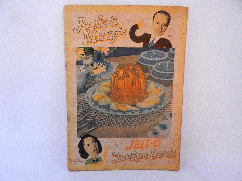 Jello Recipe Book Jack Benny Mary Livingstone Antique 1937 General Foods Advertising Paper Ephemera