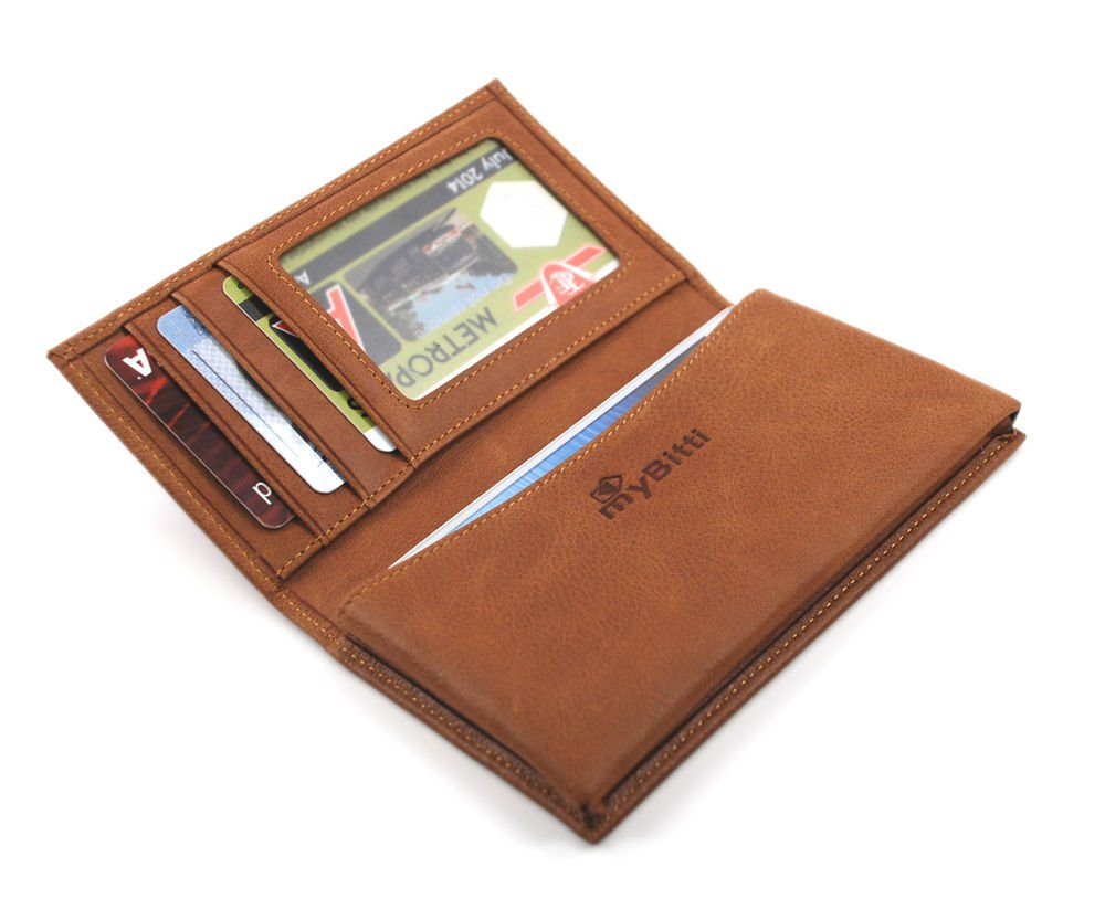 myBitti Genuine Italian Cowleather Wallet Case Cover for Iphone 5 ,4,4s , HTC