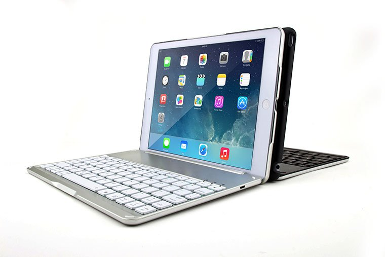 Backlight Backlit Aluminum Bluetooth Keyboard Cover Case For Apple iPad Air