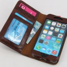 myBitti Book style Genuine vintage cow Leather  folio  wallet case iphone 6 4.7""