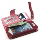 myBitti Deluxe Book Style Folio  case cover Wallet Pu Leather for Iphone 5 /5s