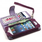 myBitti Deluxe Book Style Folio  case cover Wallet Pu Leather for Iphone 5C