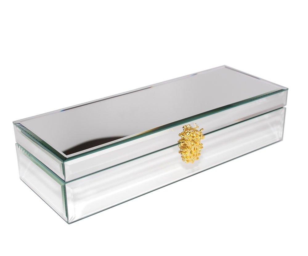 Decorebay Handmade Classic Premium Glass Mirrored Watch Case-6 Watches