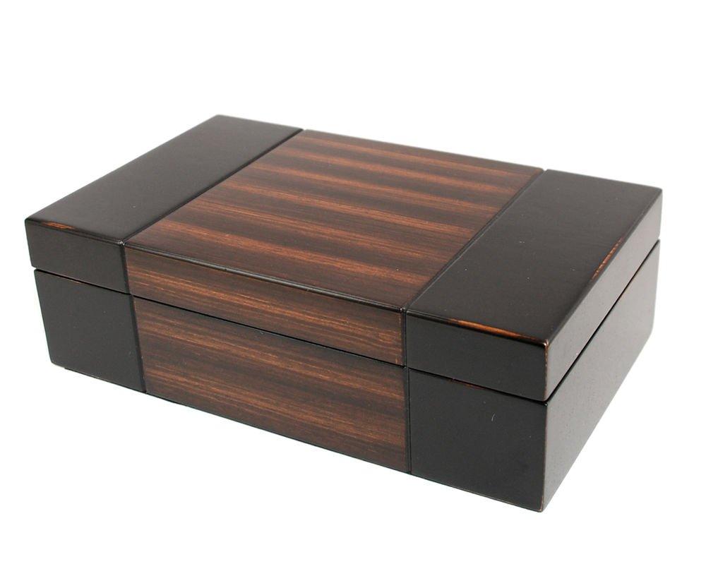 Decorebay Dark Walnut wood JEWELRY BOX Travel CASE / STORAGE / ORGANIZER new