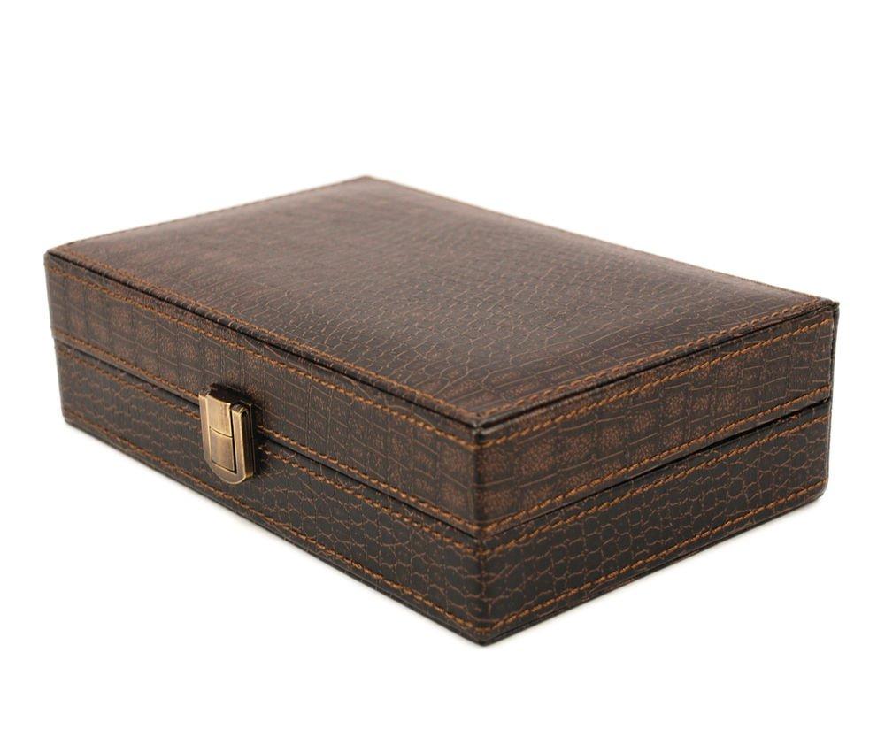 Executive High class crocodile leather Cufflink Case & Ring Storage Organizer Me
